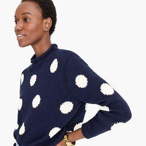 Jcrew Retro Polka Dot Sweater, L